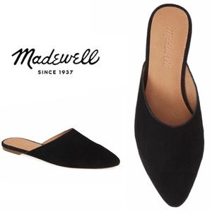 NWT Madewell Remi Black Suede Mules, 7,5